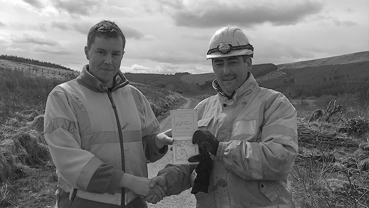 Craig Braithwaite is presented this month's Health & Safety Award Winner