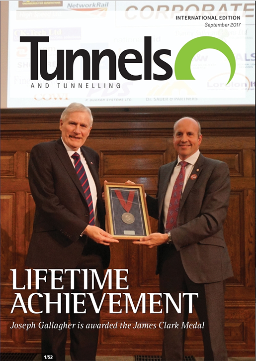 Joseph Gallagher featured in Tunnels and Tunnelling Magazine
